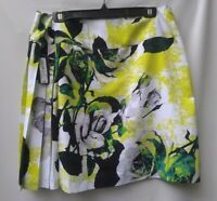 Worthington Womens Mini Skirt Floral Print Lined Pleated Multicolor Size 14P NWT