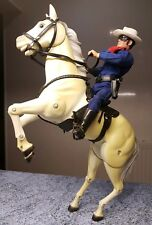 8 inch Lone Ranger and his horse Sliver Rifle hand-guns