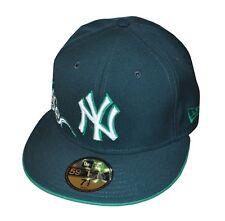 """New Era 59Fifty - NY New York Green Flat Peak Baseball Cap 7 1/2"""" (FP114)"""