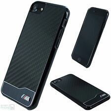 BMW M iPhone 7, 6 Real Carbon Fiber Hard Case Back Cover Schutzhülle Handy black