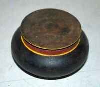 Old Wooden Vintage Lacquer Painted Hand Crafted Vermilion Box Kum Kum Tika Box