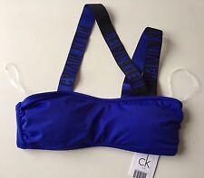 Calvin Klein Womens Intense Power Bandeau Bikini Top - Blue - Medium - RRP £47