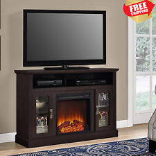 """Electric Fireplace TV Stand up to 50"""" Entertainment Media Console Wood Heater"""