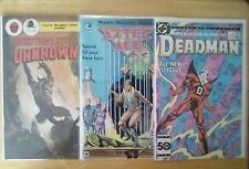First issue comics lot, Adventures into the Unknown, Aztec Ace, Deadman f-vf