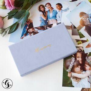 Wedding Gifts Photo Album Storage Box Faux Leather Custom Logo Personalized