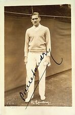 PIERRE LANDRY 1926 FRENCH DAVIS CUP PLAYER VINTAGE SIGNED TENNIS POSTCARD