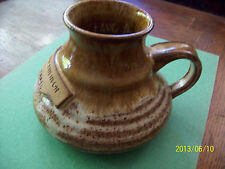 Brown-White Pottery - Pitcher,Large Cup Style - Marked Barry Swenson-Builder