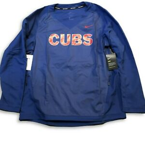 NWT New Chicago Cubs Nike Pullover Size Large Windbreaker Jacket