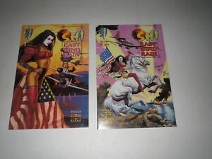 Shi: East Wind Rain #1, #2 >1997 Crusade (2 Book Lot) FN > Tucci