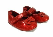 Children Place Baby Girl Shoes Crib 3-6 Months Infant Red Sparkle