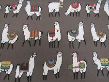 Llama Alpaca Canvas Cotton Fabric Upholstery Curtain Interior Design Craft Lama