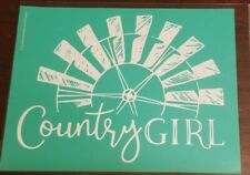 Chalk Couture Transfer   Country Girl  Windmill  New
