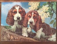 Vintage Antique old toy game of wooden Jigsaw wood Beagles original Victory box