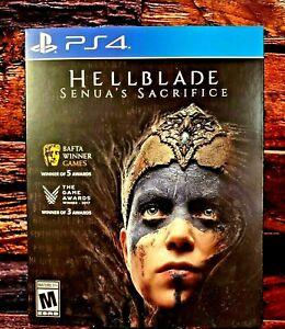 HELLBLADE Senua's Sacrifice - PS4 - Sony PlayStation 4 - Brand NEW + Slip COVER