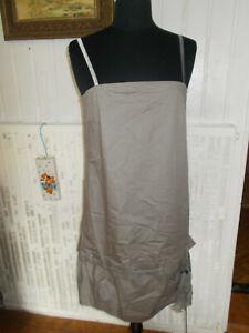 COP COPINE 42  robe à bretelles grise modèle DALLAS foulard soie