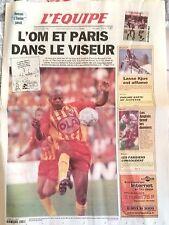 L'Equipe Journal 20/2/1999; L'OM et Paris/ Lasse Kjus/ Pioline/ Pascal Nouma