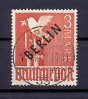 Berlin 19 Schwarzaufdruck 3 Mark gestempelt tiefst geprüft Schlegel (cs256)