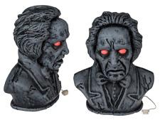 Animated Halloween Bust Statue Decoration Eyes Light up Prop Talking Animatronic