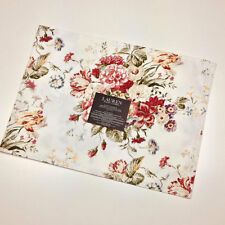 Ralph Lauren Antibes Floral Red 100% Cotton Placemats Set of 4