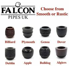 NEW Falcon Standard Pipe Bowls Rustic or Smooth - All Shapes