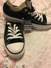 Converse All Star Chuck Black Platform Ox Woman's Sz 8 Men's Sz 6 Rare 107393F