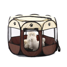 Pet Dog Cat Cage House Tent Fence Portable Folding Outdoor Travel Waterproof