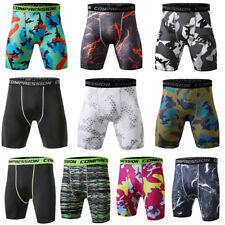 Men Compression Shorts Sport Boxer Brief Running Dri fit Short Bottoms Gym Tight