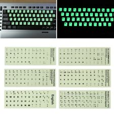 1PC Fluorescent Keyboard Stickers Luminous Waterproof Keyboard Protective Film