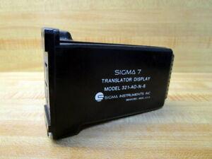 Sigma Instruments 321-AO-N-6 Translator Display 321AON6