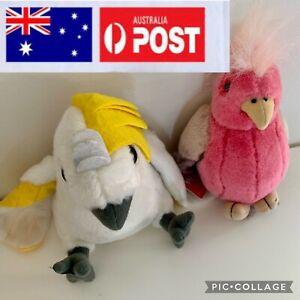 Plush Australian Birds ~ Cockatoo & Pink Gallah