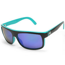 Dragon Wormser 720-2072 Polished Black on Green/Green Mirror Sunglasses