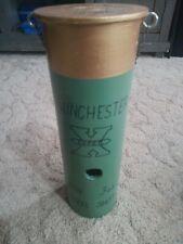 """Home Made Bird House Craft Folk Art Winchester Shotgun Shell Green Gold 14"""" x 5"""""""