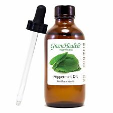 4 fl oz Peppermint Essential Oil in Amber Glass Bottle/Glass Dropper
