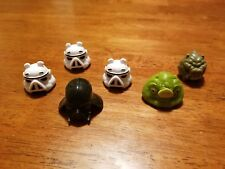 6pcs/ lot  Angry Bird Starwars Figures Cake toppers Dark Side Vader Trooper Jaba
