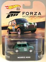 Hot Wheels Forza Motorsport Morris Mini Cooper in Grün 3inch 1/64 OVP -selten