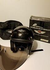Harley Davidson 100th Anniversary Full~Face Black Helmet SIZE MEDIUM