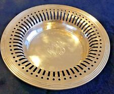 Antique Sterling Silver Bowl Reticulated by RW&S Monogrammed RRB
