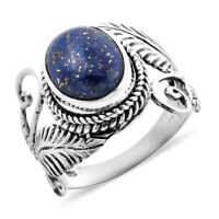 BALI LEGACY 925 Sterling Silver Lapis Lazuli Solitaire Ring Gift Size 9 Ct 4.7