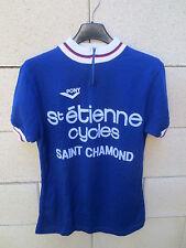 VINTAGE Maillot cycliste SAINT ETIENNE CYCLES SAINT CHAMOND Pony shirt trikot 3