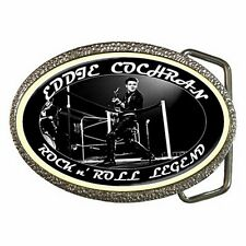 Eddie Cochran - Rockabilly - Rock n' Roll Legend - Chrome/Enamel Belt Buckle