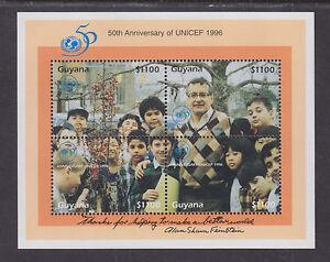 Guyana Sc 3027 MNH. 1996 UNICEF Souvenir Sheet, fresh, VF.