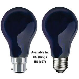 QTX 75W UV Imitation Black Light Purple Ultra Violet Like DJ GLS Bulb BC ES