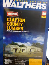 Walthers Cornerstone HO #2911 Clayton County Lumber (Kit form) NEW
