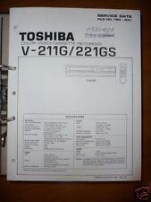 Manual De Servicio Toshiba V-211G/221GS Video Rec,ORIGINAL