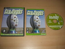 PRO RUGBY MANAGER 1 Pc Cd Rom - FAST DISPATCH