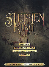 Stephen King DVD Collector Set - Misery, The Dark Half, Needful Things, Carrie