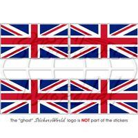 BRITISH Union Jack Flag UK Bumper Stickers 50mm (2') x4