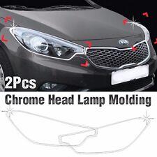 Chrome Head Lamp Garnish Molding Trim C453 For KIA 2013-2017 Forte / Cerato / K3