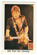 1970s Swedish Pop Star Card #620 Beatles Paul McCartney playing guitar Wings Era
