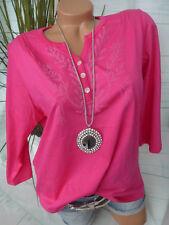 Paola Shirt Pulli Tunika Damen Gr. 46 bis 54 Pink Ton Knopfleiste (064)